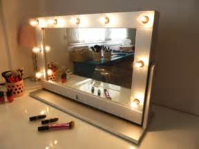 Makeup Mirror With Lights Etsy Vanity Mirror With Lights And Stand Tilted Mirror