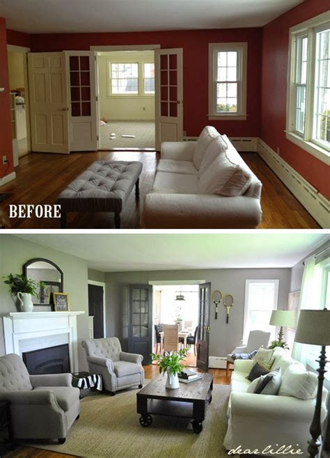 room before and after dear lillie jason s living room before and quot almost quot after
