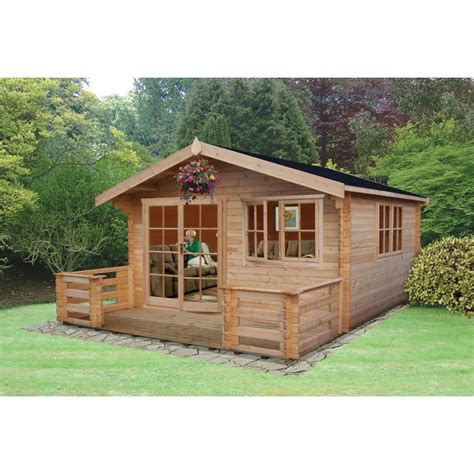 abbeyford log cabin 16 x 16ft colchester sheds and fencing