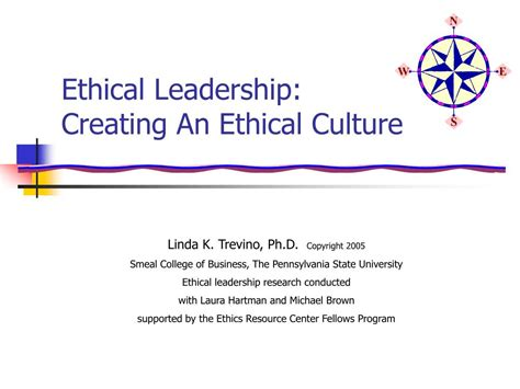 ppt ethical leadership creating an ethical culture