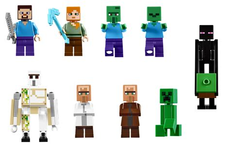 Minecraft Figure Villager lego announces 21128 the the largest minecraft