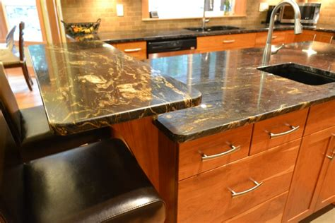 kitchen island with raised bar raised bar area at the end of the island