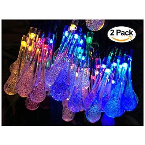 amazon outdoor string lights 2 pack solar strings lights lemontec 20 feet 30 led water