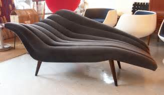 How Long Is A Chaise Lounge Ultra Chic Chaise Lounge Modernist Fainting Couch At 1stdibs