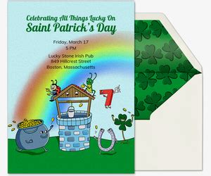St Patrick S Day Free Online Invitations Evite St S Day Invitation Template