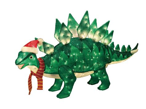 lighted dinosaur christmas decoration trim a home 174 60in animated lighted stegosaurus