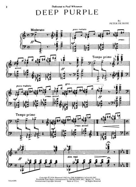 burn tutorial keyboard deep purple deep purple sheet music by peter de rose sheet music plus