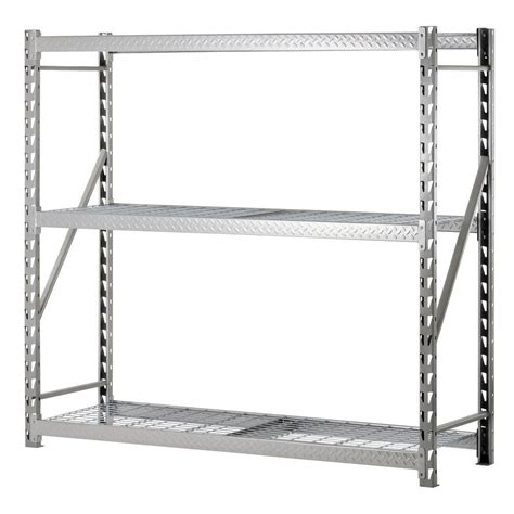 edsal 72 in h x 77 in w x 24 in d 3 shelf steel
