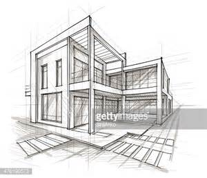 House Architecture Drawing by Architecture Vector Art Getty Images
