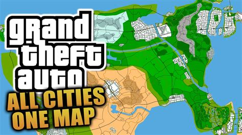 all maps gta concept map all grand theft auto cities on one map