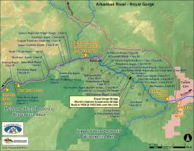 map of arkansas river in colorado arkansas river royal gorge colorado