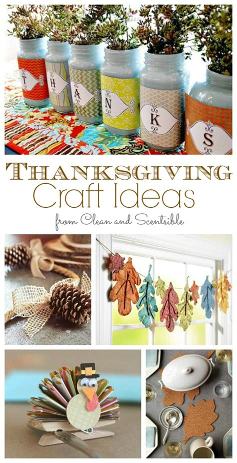 fun thanksgiving craft ideas clean and scentsible