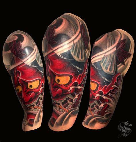 hannya mask tattoo forearm hannya mask by ben sellman tattoonow
