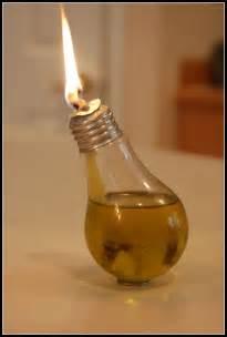 homemade serenity make it light bulb oil lamp