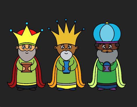 imagenes de reyes magos a color dibujo de los 3 reyes magos pintado por en dibujos net el