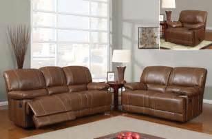 room furniture leather classic pcs:  brown traditional pc reclining sofa set oklahoma oklahoma gf