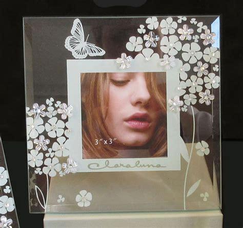 cornice claraluna portafoto quadro con decoro ghiaccio e strass claraluna