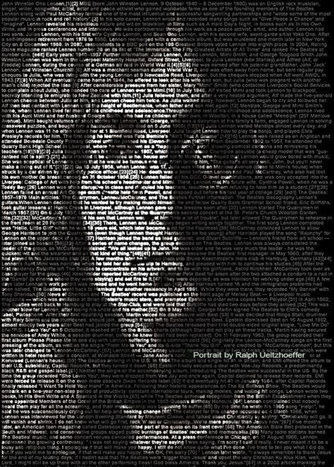 photoshop tutorial john lennon mind blowing text portraits of famous musicians and