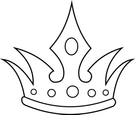 crown template black and white simple crown outline clipart panda free clipart images