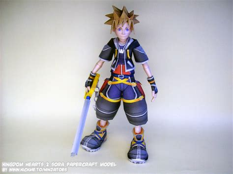 Kingdom Hearts Papercraft - kingdom hearts sora papercraft by ninjatoespapercraft on