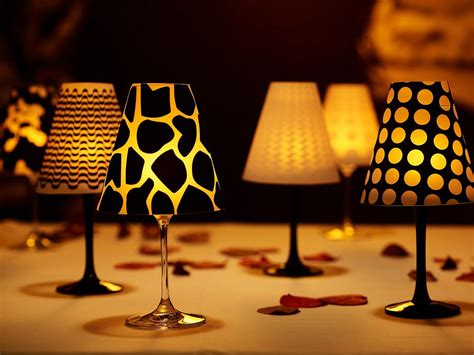 Decorative Craft Ideas For Home by Wonderful Diy Fancy Wine Glass Candle Lampshades