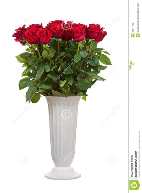 flower bouquet from roses in vase isolated on white