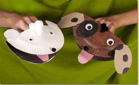paper plate puppy puppet pet theme fab ideas for