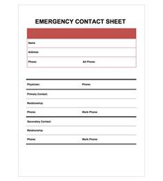 emergency contact list template emergency contact information template pictures to pin on