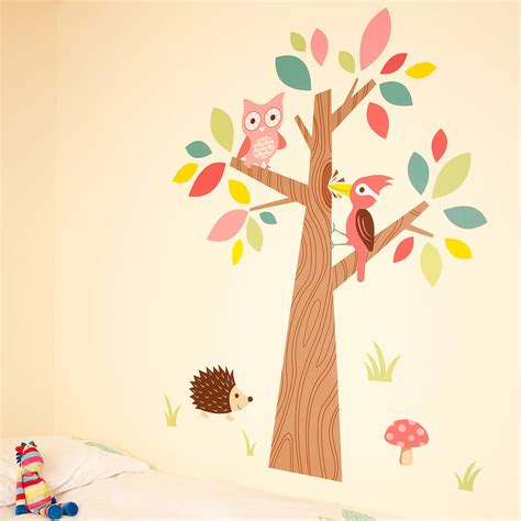 Forest Wall Stickers forest friends wall stickers by the little blue owl