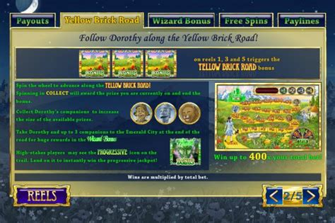yellow brick road casino table the winnings of oz slot