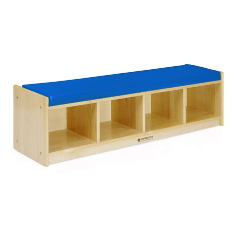 cubby bench with cushion bench cubby cushion blue university furniture collection