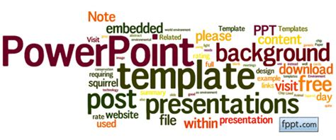 Powerpoint Visualization Tips Free Word Cloud Template For Powerpoint