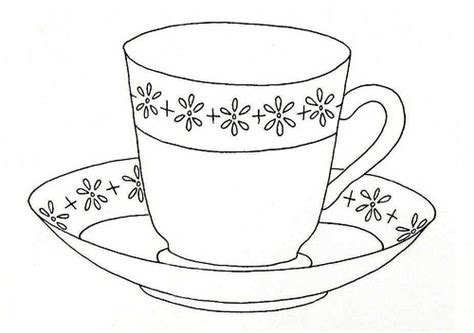 sweet little tea cup and saucer coloring pages