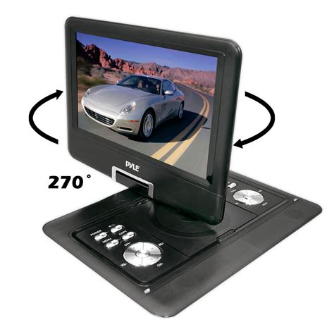 Cardreader 4 Slot Rotate pyle home pdh14 14 inch portable tft lcd monitorwith built