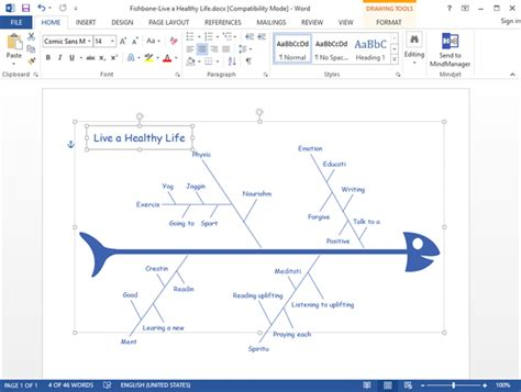 Fishbone Diagram On Word