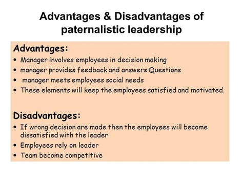 advantages disadvantages of people oriented leadership styles from the spec as economics and business leadership styles