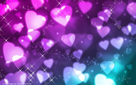 hearts background glowing hearts wallpaper 106060