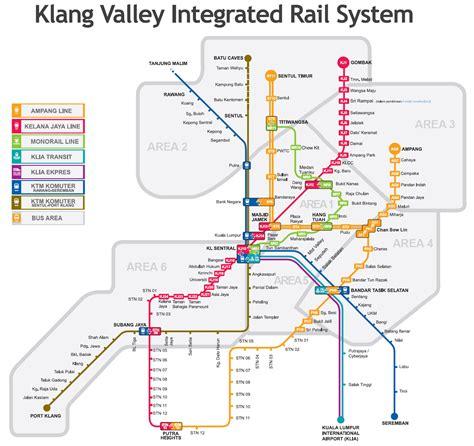 Lrt Monorail Ktm Map Map Of Kuala Lumpur Wonderful Malaysia