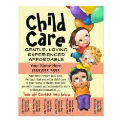 child care flyer templates child care babysitting day care tear sheet 8 5 quot x 11