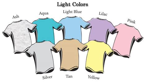 Shirt Color Catalog The Gloo Factory