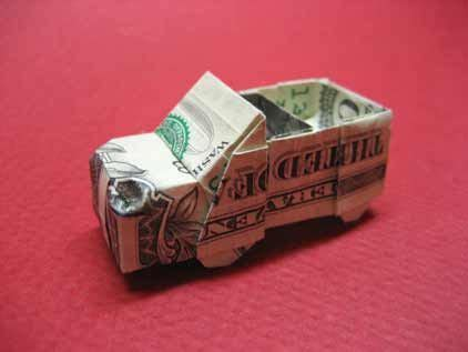 Money Origami Car - money origami car boat airplane jet ship tank motor