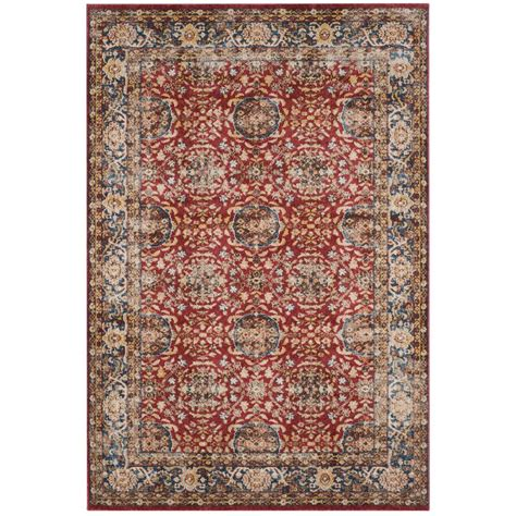 Safavieh Bijar Red Royal 4 Ft X 6 Ft Area Rug Bij632r 4 Rugs 6 Ft