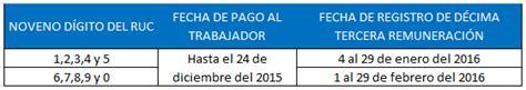 decimo tercer sueldo 2015 ecuador pago y registro del d 233 cimo tercer sueldo 2015
