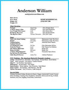 Acting Resume Beginner by 17 Best Ideas About Acting Resume Template On Resume Exles Free Resume And