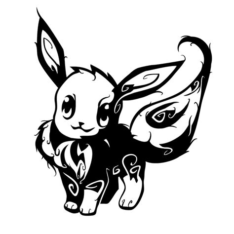 tribal tattoo pokemon tribal eevee by oykawoo on deviantart geekness