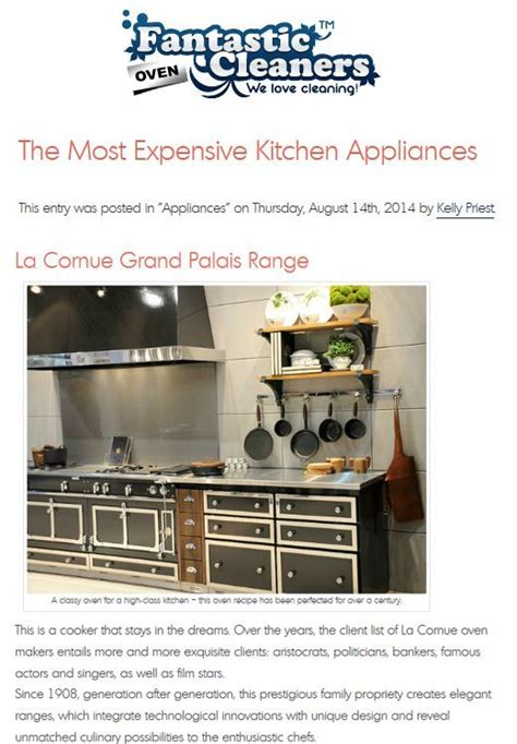 most expensive kitchen appliances pin by arc pr on la cornue in the press pinterest