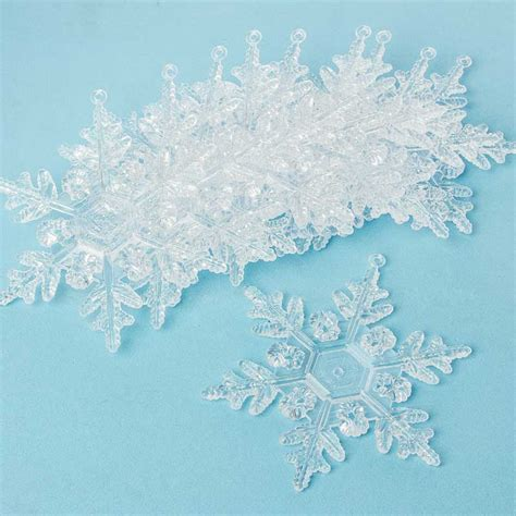 clear acrylic snowflake ornaments snow snowflakes