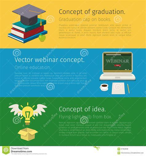 online education illustration flat design illustration set of online education concept stock vector image