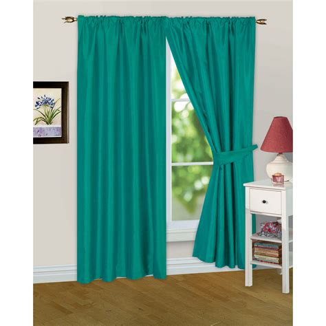 pre made drapes faux silk ready made fully lined modern window curtains