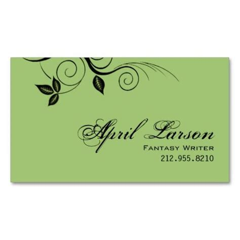 writer business card template pretty leaves 1 writer business card template card